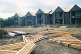 Campus photograph, construction of University Oaks apartments