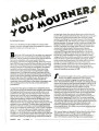 Moan You Mourners: Part One, March 1994