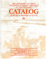 Catalog - The University of Texas Institute of Texan Cultures at San Antonio, 1979
