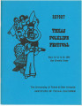 Report - Texas Folklife Festival, August 12-15, 1974