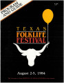 Program and guide - Texas Folklife Festival, August 2-4, 1984