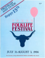 Program and guide - Texas Folklife Festival, July 30 - August 3, 1986