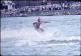 Clown in Mercury Outboard Water-Ski show,produced by Tommy Bartlett, on lake at HemisFair'68