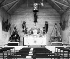 Interior of Our Lady of Refuge Catholic Church, Refugio, Texas, late 1890s