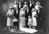 Sophia Ortiz Martinez and Jose B. Martinez and their wedding party, ca. 1925