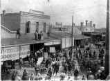Auction on Main Street, Bastrop, Texas, ca. 1900