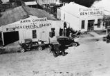 Ahr's Garage and North Side Restaurant, LaCoste, Texas,  1920s