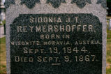 Gravestone of Sidonia J. T. Reymershoffer, Galveston, Texas, 1975transparency.