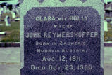Gravestone of Clara Reymershoffer, Galveston, Texas, 1975transparency.