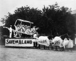 """Save the Alamo"" float, sponsored by Joske's, in Battle of Flowers Parade, San Antonio,..."
