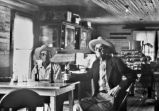 John Kroll and Edwin Kerlick drinking beer in Manka's Store, Panna Maria, Texas, 1970