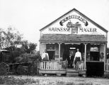 Exterior of Henry G. Rohrbach Saddle Shop, D'Hanis, Texas