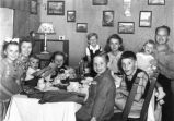 Birthday party in German living quarters at Crystal City Internment Camp, 1947