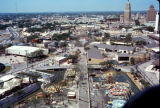 Elevated walkway and carnival at HemisFair'68 from Tower of the Americas