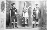 Claude Yost, Adele Kotula, and Ed B. Kotula in theatrical costume