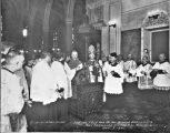 Marshal Ferdinand Foch and Bishop Arthur J. Drossaerts at San Fernando Cathedral
