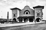 Halftone of Southern Pacific Station, San Antonio, Texas
