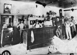 Interior of saloon at Peter Brothers Brewery at 427 E. Commerce Street, San Antonio, Texas