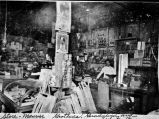 Interior of Maurice Grothues' general store, corner of Guadalupe and Trinity Streets, San Antonio,...