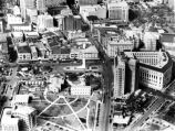Aerial view of Alamo Plaza, San Antonio, Texas, ca. 1940