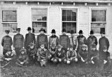 Group of U.S.Army Air Service officers at Wilbur Wright Aviation Field