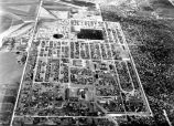 Aerial view of Crystal City Internment Camp, Crystal City, Texas, 1944-45