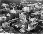 Aerial view looking northeast towards intersection of St. Mary's and Houston Streets,  San...