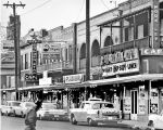 Buildings in 1100 block of W. Commerce Street, San Antonio, Texas, ca. 1965