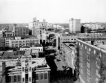 St. Mary's Street from roof of Plaza Hotel, San Antonio, Texas, 1927
