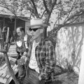 Frank Toudouze speaks with news media in the backyard of the Toudouze home, 123 Wyoming Street, after Sheriff Bill...