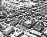 Aerial view of Alameda Theater and surrounding buildings, San Antonio, Texas, March 1968