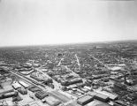 Aerial view looking southwest toward Southern Pacific Railroad Station and neighboring area later called St. Paul's...