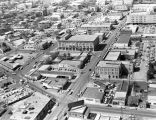 Aerial view looking west, southwest toward New City Block 170