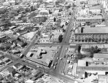 Aerial view looking west on E. Market Street in Urban Renewal Project 5