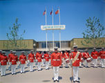 U.S. Marine Band in front of the General Motors Pavilion at HemisFair'68
